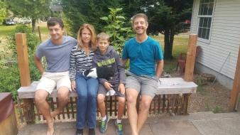The lovely family I house sat for in Edmonds , Washington