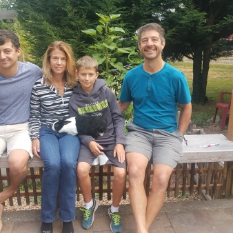 The lovely family I house sat for in Edmonds , Washington