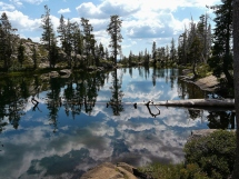 One of many lakes to hike to. Loch Leven lakes