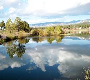 Glenshire pond in Truckee.
