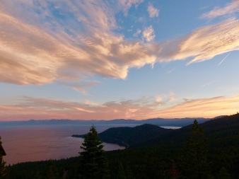 Lake Tahoe most always has amazing sunsets.